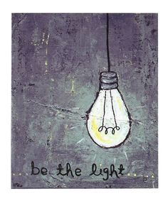 Look at this #zulilyfind! 'Be the Light' Canvas by Creative Co-Op #zulilyfinds