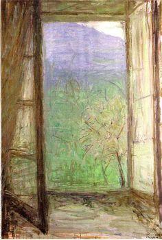 Jaques Truphemus, via open window Window View, Open Window, Seascape Paintings, Landscape Paintings, Villefranche Sur Saône, Georges Braque, Virtual Museum, Through The Window, Art For Art Sake