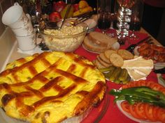 stedrak christmas eve cake at christmas dinner table
