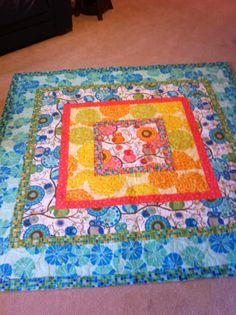 Flannel quilt with Owls.  Made for grandchild.  Very easy, just different size borders put around a center square