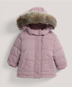 Quilted Fur Trim Coat