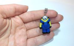 Minion keychain despicable me handmade fimo polymer by youfimo