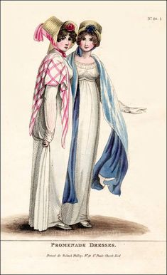 Fashions of London and Paris, September 1804.