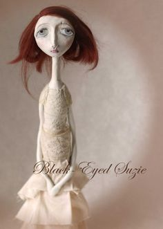 Amazing paperclay dolls that are available on Black-eyed Suzie's Etsy page | http://www.etsy.com/shop/blackeyedsuzie?ref=seller_info