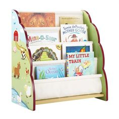 Fun farm-themed bookcase for a child's bedroom or play room