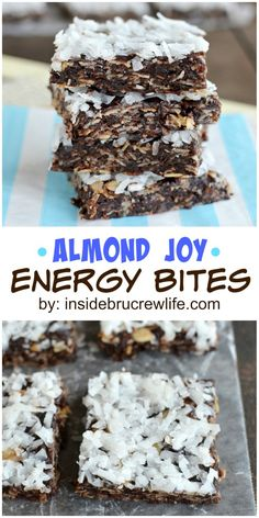 easy no bake granola bars are the perfect healthy treat for when you are watching what you are eating!These easy no bake granola bars are the perfect healthy treat for when you are watching what you are eating! Mini Desserts, Just Desserts, Delicious Desserts, Yummy Food, No Bake Granola Bars, Clean Granola Bars, No Bake Protein Bars, Healthy Sweets, Eating Healthy