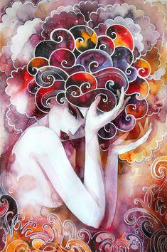 ❤Art※Illustration❤ love this painting by Lesya Nedzelskaya on Behance♥ Psychedelic Art, Silk Painting, Love Art, Artsy Fartsy, Amazing Art, Awesome, Fantasy Art, Art Drawings, Art Photography