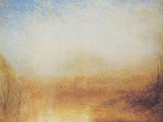 Joseph Mallord William Turner, Paesaggio con fiume e montagna in lontananza, 1840-1850 ca., olio su tela. Liverpool, Liverpool Museums - Walker Art Gallery