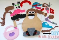 Mr. Potato Head. What a great diy kids toy and perfect for quiet time.
