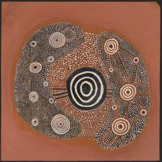 John Tjakamarra (Pintupi c.1937-2002) Man's Dreaming, c.1971, synthetic polymer paint on composition board,  50.5 x 50.0 cm