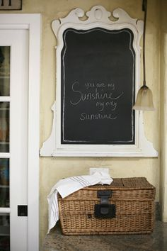 vintage mirror and chalkboard by sadieolive on Etsy, $85.00