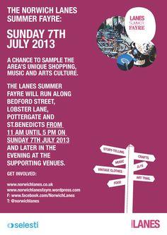 Norwich Lanes Summer Fayre 2013