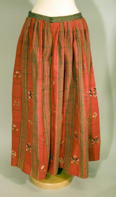 Skirt from Maihagen Museum, ca 1800-1850.