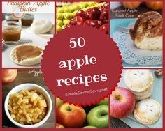 The arrival of autumn signals an apple harvest and falling apple prices at the grocery store. Here's a list of 50 Apple Recipes for you to try. Whether you're looking for simple recipes or gourmet fare, there's something for everyone!