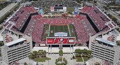 Raymond James Stadium Tampa, FL - Here for the 2010 Outback Bowl and 2014 Outback Bowl. Both of my kids performed at these games. Florida Girl, Florida Living, Tampa Florida, Tampa Bay Buccaneers, Orlando, Raymond James Stadium, St Petersburg Fl, Baseball Park, Sport Park