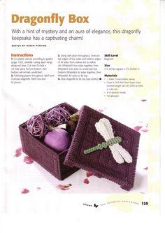 DRAGONFLY BOX by ROBIN PETRINA 1/2 Bugs, Butterflies, Birds & Blooms Pg 129