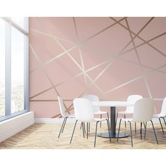 Wall Rogues Rose Pinnacle Wall Mural The Home Depot Pink Accent Walls, Accent Wall Bedroom, Pink Walls, Chevron Walls, Painted Accent Walls, Painted Feature Wall, Bedroom Wallpaper Accent Wall, Pink Bedroom Walls, Wall Wallpaper