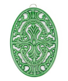 Take a look at this Green Floral Oval Trivet by Old Dutch International on #zulily today!