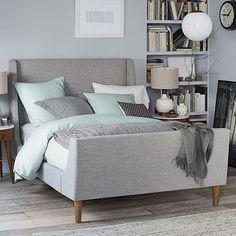 Upholstered Sleigh Bed Set