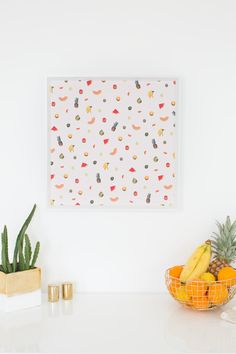 Add a colorful, retro punch with to your decor with this DIY printable fruit wall art...