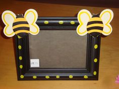 Black Yellow Polka Dot Bumble Bee Photo Frame