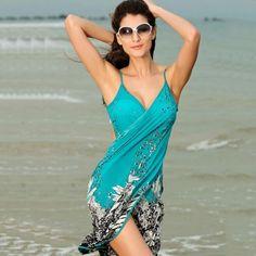 Ucuz 2016 Kadın Plaj Elbise Seksi sapan plaj kıyafeti elbise sarong bikini kapak up wrap Pareo etek havlu Açık geri mayo, Satın Kalite Kapak- up doğrudan Çin Tedarikçilerden: öğe türü: elbiseMalzeme: polyesterRenk: resimde gösterildiği gibiCinsiyet: kadınBoyun: v- boyunKollu: kolsuzKapatma: ask