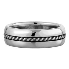 SCOTT KAY BRAID WEDDING BAND SINGLE BRAID THICK #ring #mens #weddingband #woodrowjewelers