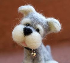 Needle Felted Wool Puppy by TheWoollyPear on Etsy