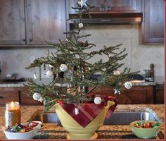 kitchen christmas tree
