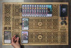Matérialisation dun mini jeu de The Witcher 3 Wild Hunt Conçu dans le style celtique antique (dans le jeu - Skellige Style). À la main fabriquée à