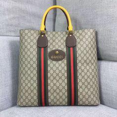 4eee5a9347a Gucci GG Supreme Top Handle Tote Bag 473870 2018 Gucci Messenger Bags