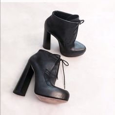 SALE Alexander Wang boots sz 38 Re-poaching. Worn once after I had purchased. I love a high heel but this was a bit too high for me to handle. Great condition! I'm a 7.5 and it fit pretty well. Alexander Wang Shoes Ankle Boots & Booties