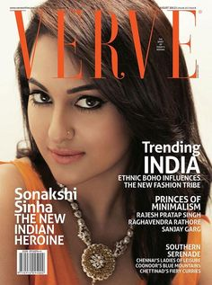 Sonakshi Sinha on The Cover of Verve Magazine - August 2013.