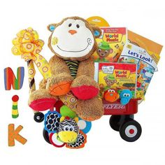 Baby Einstein Monkey Madness Personalized Radio Flyer Wagon - http://www.247babygifts.net/baby-einstein-monkey-madness-personalized-radio-flyer-wagon/