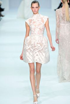 {runway inspiration   elie saab haute couture spring 2012} - Great for a rehearsal dinner or daytime wedding! From LuxeFinds