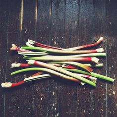 Rhubarb in from the Garden.   Photo by awhitechelsea • Instagram