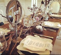 Country rustic table setting