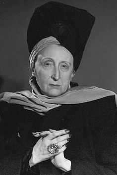 Edith Sitwell.  Now thats a big honker of a ring!!