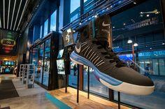 NIKE Retail Display | LUNARGLIDE+ & HYPERDUNK+ | Niketown London & Westfield Stratford City, 2012 by Millington Associates