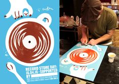Record Store Day Posters by Senan Lee & Pansy Aung 'Cofee' Illustrated by Paul Bower #RSD16 #RSDUK #RecordStoreDay #Soho #London