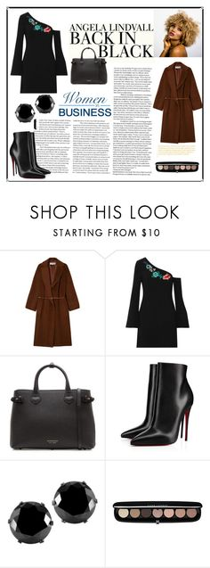 """""""BACK in BLACK"""" by iremgungor ❤ liked on Polyvore featuring H&M, Gérard Darel, Rachel Zoe, Burberry, Christian Louboutin, West Coast Jewelry and Marc Jacobs"""