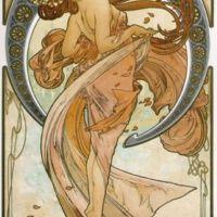 La Danse  Alfons Mucha     Alfons Maria Mucha naquit à Ivancice, Moravie (République tchèque alors annexée à l'empire austro-hongrois), le 14 juillet 1860. Issu d'une famille de...
