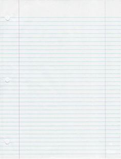 Blue Lined Ledger 3-hole school Notebook Paper freebies/printables