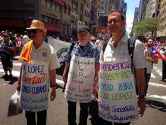 Cuba, la Isla Infinita: Piden libertad para los cinco antiterroristas cubanos en Marcha boricua en New York