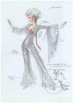 Photos: Costumes and sketches for Cher's 'Dressed to Kill' tour