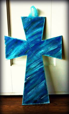 Hand Painted Wooden Cross via Etsy