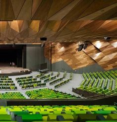 """NH Architecture, in joint venture with Woods Bagot, aimed to create a public building that belongs to Melbourne, rather than the typical convention centre stereotype that looks like a modified sports stadium. The triangular design of the new Melbourne Convention Centre gives the cityscape a new feature on the banks of the Yarra River. The distinctive 18 metre high glass façade gives passers-by a glimpse to activity within the centre and creates a foyer full of natural light, as well as…"