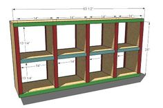 Here are plans, just make them taller........2x4 console cubby shelves