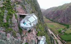 Rock-climb up to your bed cliffside, and zip down from it. Where else but in Peru! On my travel bucket list? Er, maybe.