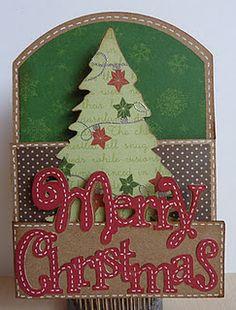 A beautiful tri fold card using the Gypsy...or cricut craft room